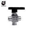 YFP-2B thread 3 way ball valve,flow control ball valve,manual high pressure ball
