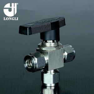 YFP-1A three way ball valve,304 stainless steel ball valve,sleeve type ball valv