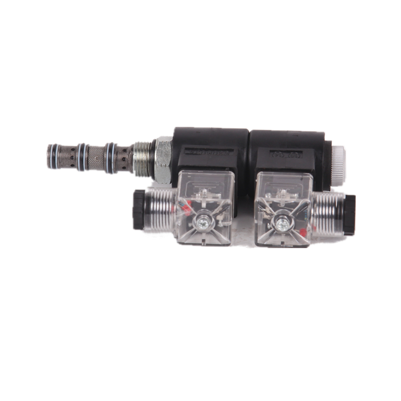 SV08-34H 4-way, 3-position, solenoid-operated directional spool cartridge valve